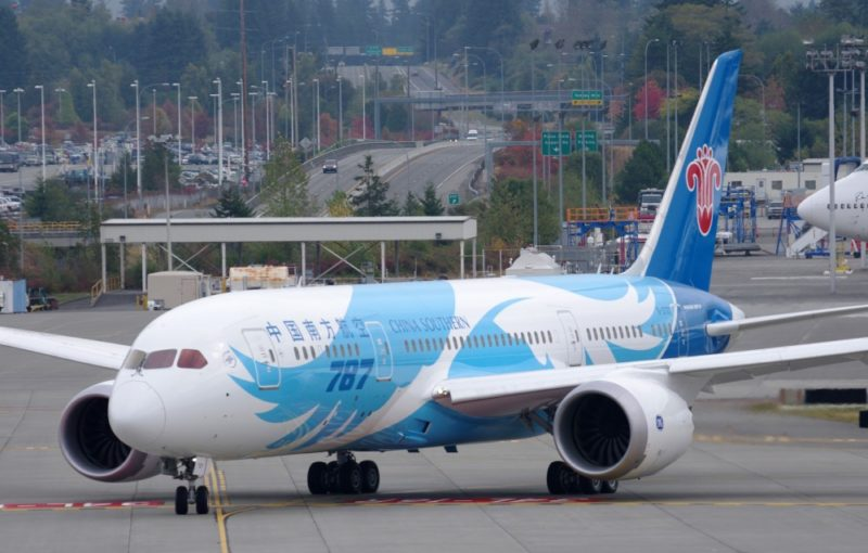 Boeing 787 air travel in China