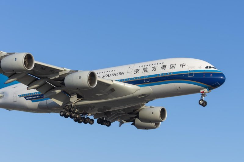 Flightglobal, A380 air travel in China