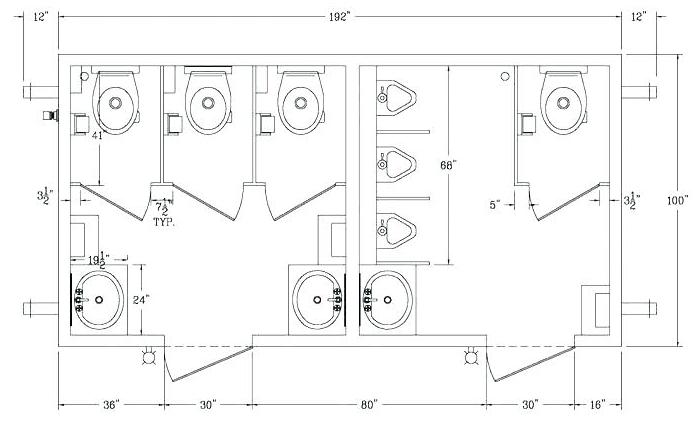 Restaurant bathroom floor plan