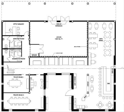 Restaurant dining area floor plan