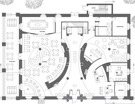 Dining area floor plan