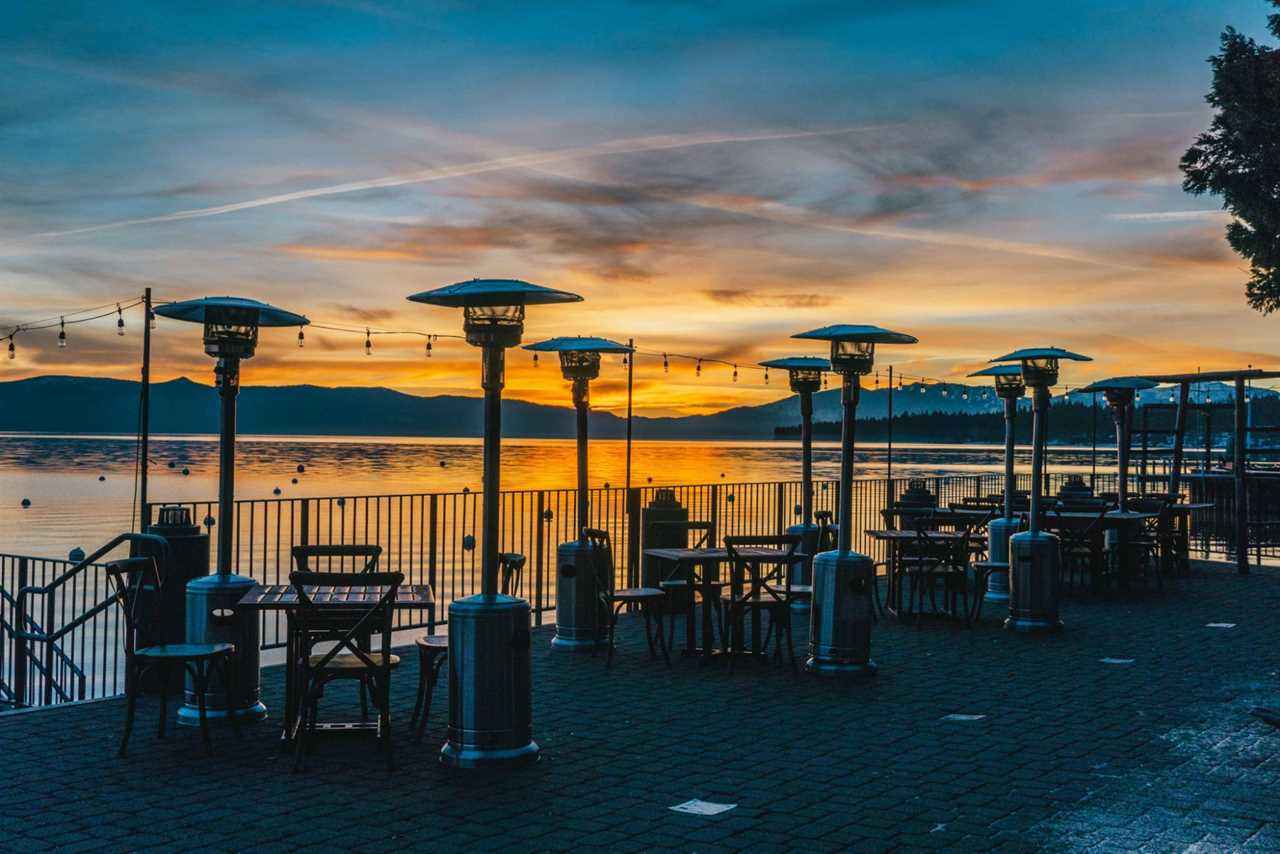 Restaurant overlooking Lake Tahoe